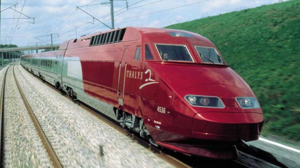 Thalys hızlı tren speed train Amsterdam Bruksel Paris